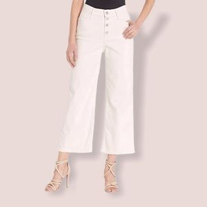NWT Levis Mile High Cropped wide leg jeans cream